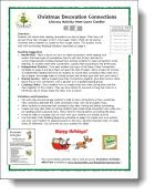 Corkboard Connections: Christmas Decoration Connections - Literacy activity for making connections in reading