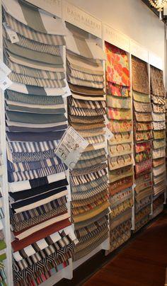 rug samples. Rebecca's Furniture store