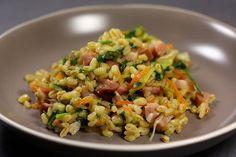 L'Ebly vous aimez ? Moi j'adore mais je ne penses pas souvent à en cuisiner, j'ai plus de réflexe riz ou pâtes. Là, pour changer j'ai eu envie de faire une poêlée d'Eb…
