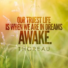 """Our truest life is when we are in dreams awake."" -Henry David Thoreau #quote #quotes"