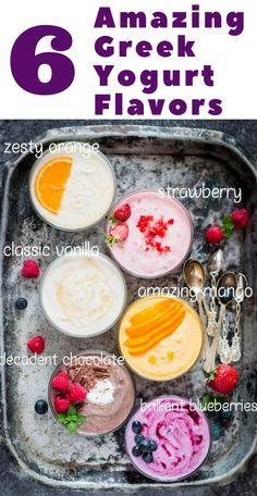 Today I bring to you 6 amazing ways to flavor plain Greek yogurt for making bland plain yogurt yummier. Fresh fruit flavors, chocolate flavoured Greek yogurt, create new flavors that works for you. So what's your flavor pick? Greek Yogurt Recipes Breakfast, Plain Yogurt Recipes, Homemade Yogurt Recipes, Make Greek Yogurt, Homemade Greek Yogurt, Eat Greek, Thm Recipes, Greek Yogurt Dessert, Greek Yogurt Parfait