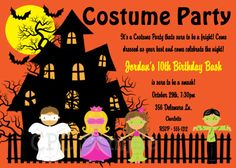 Halloween Costume Party Invitations By CutiePatootieCreations Costumeparty Invitation