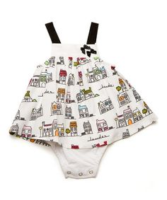 Love this White Town Skirted Bodysuit - Infant on #zulily! #zulilyfinds