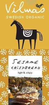 Vilmas ...Swedish Organic, sesame crispbread. Horse Logo, Food Packaging, Fig, Branding, Organic, Biscuit, Cookie Favors, Brand Management, Cookie