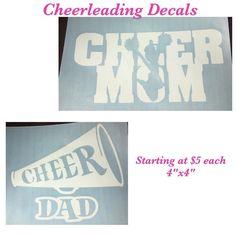 Custom Made Decals  #decals #cheerleading #cheerdecals #windowdecals #cynthiascraftsinvirginia #decals #cardecals