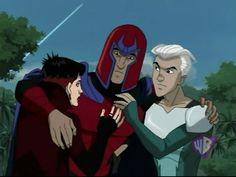 x men magneto polaris   Magneto,_Quicksilver,_and_Scarlet_Witch_(X-Men_Evolution)