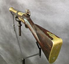 British Naval Brass Barrel Blunderbuss Swivel Gun Circa 1775 ima-usa.com