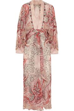 Etro Beaded printed silk-crepe dress #Etro