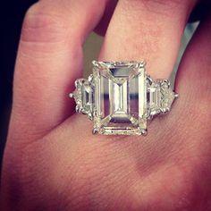 Unique Emerald Cut Engagement Ring