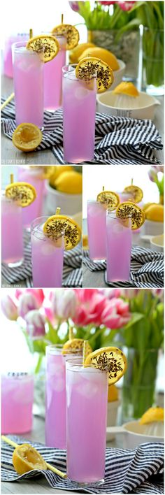Lavender Lemonade fun, bright, and yummy! Non-alcoholic or boozy!