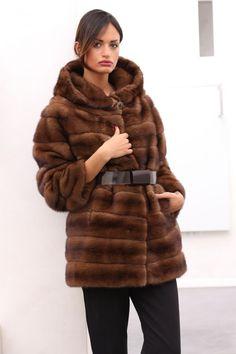 Pelliccia cappotto di pelliccia visone Cappotto Giacca FUR COAT MINK VISONE fourrure pelliccia норка