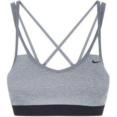 Nike Pro Indy Sports Bra ($39) ❤ liked on Polyvore featuring activewear, sports bras, nike sports bra, nike sportswear, nike and nike activewear