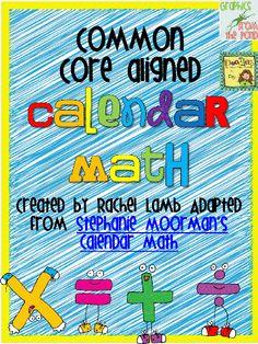 freebie-Common core aligned calendar math!