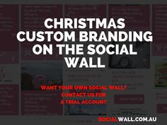 CHRISTMAS CUSTOM BRANDING ON THE SOCIAL WALL #Custom, #CustomBranding, #DigitalMarketing, #SocialMedia, #SocialMediaStrategy, #SocialNetwork, #SocialWall, #Stinkythepig - http://socialwall.com.au/christmas-custom-branding-social-wall/