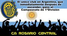 Rosario Central (Argentina) El unico club en Argentina, que inmediatamente después de ascender, gano el campeonato de 1ªDivisión.  #Rosario #RosarioCentral #Argentina #Futbol #Fussball #Football #Soccer