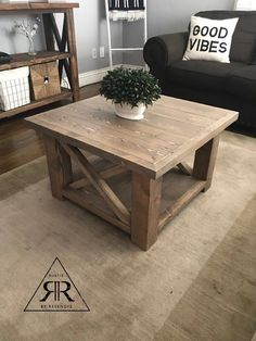 Small coffee table - Our smaller rustic x coffee table still carries the chunkier legs which makes it extra sturdy! Western Furniture, Country Furniture, Farmhouse Furniture, Recycled Furniture, Wooden Furniture, Home Furniture, Antique Furniture, Outdoor Furniture, Furniture Makeover