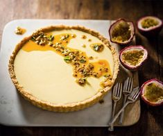 Granadilla Fridge Tart With just a packet of jelly, some coconut biscuits and a tin of condensed milk you can make this incredible fridge tart recipe by Zola Nene! Milk Recipes, Tart Recipes, Sweet Recipes, Baking Recipes, Pudding Recipes, Easy Desserts, Delicious Desserts, Dessert Recipes, Yummy Food