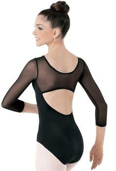 Mesh 3/4-Sleeve Leotard | Balera™ - cell block tango