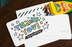 Thank you card from a 365 Days on Earth First Birthday Party on Kara's Party Ideas | KarasPartyIdeas.com (22)