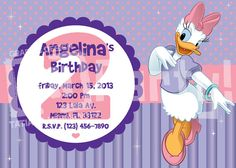 Daisy Duck Inspired Birthday Printable DIY Party by thdezignparty, $35.00