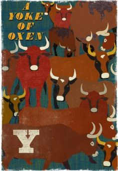 Y - a Yoke of Oxen, £79 limited edition print, signed, from Artfinder