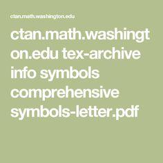 ctan.math.washington.edu tex-archive info symbols comprehensive symbols-letter.pdf