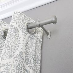 Wayfair Basics™ End Cap Single Curtain Rod & Hardware Set Size: W, Finish: Nickel Cute Curtains, Rod Pocket Curtains, Curtains With Rings, Colorful Curtains, Grommet Curtains, Drapes Curtains, Cheap Curtain Rods, Drapery Rods, Curtain Panels