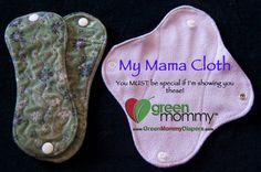 Mama Cloth - love the snap on idea