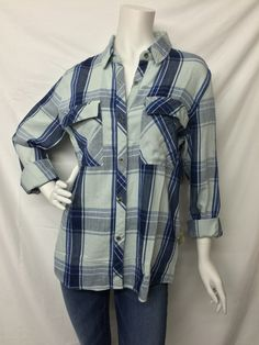 Rails- Mint and Blue Plaid Shirt/Jacket - Suburban Casuals