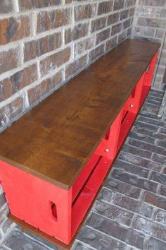DIY Crate Bench 2019 diy crate bench diy outdoor furniture painted furniture porches repurposing upcycling The post DIY Crate Bench 2019 appeared first on Entryway Diy. Repurposed Furniture, Painted Furniture, Refurbished Furniture, Painted Wood, Antique Furniture, Crate Bench, Crate Shelves, Crate Tv Stand, Storage Crates