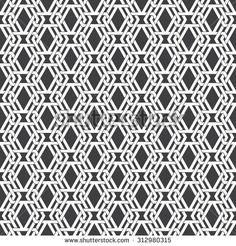 Seamless pattern of intersecting sophisticated geometric shapes. Celtic chain mail. Fashion background for web or printing design. Swatches are attached.