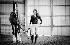 horse senior picture