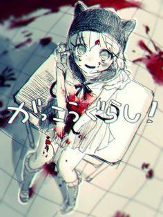 Gakko gurashi. Gore anime girl