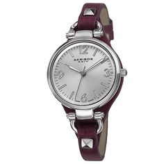 This ladies watch from Akribos XXIV is a classic addition to every watch collection. Featuring a Swiss quartz movement and etching dial this is an irresistible timepiece. The genuine leather thin strap watch makes a big statement of fashion and trendiness