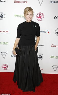 Still on top: Maureen McCormick of The Brady Bunch looked pretty in a black outfit at the Carousel Of Hope Ball in Beverly Hills on Saturday Classic Clothes, Classic Outfits, Marsha Brady, Maureen Mccormick, Laura Linney, The Brady Bunch, Old Tv Shows, Celeb Style, Red Carpet Dresses