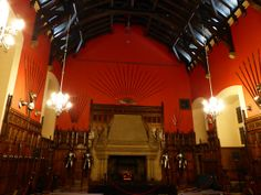 The Great Hall www2edinburgh.co.uk Edinburgh Castle, Volcano, Places To Visit, Cottage, City, Cottages, Cabin, Volcanoes, City Drawing