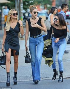 Hailey Baldwin, Gigi Hadid and Kendall Jenner