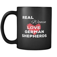 [product_style]-German shepherd Real Women Love German shepherds 11oz Black Mug-Teelime