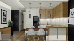 wnętrze, salon, kuchnia, jadalnia