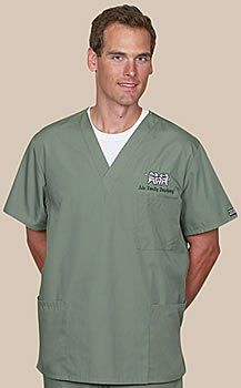 Cherokee Uniforms Authentic Workwear Unisex 3 Pocket V-neck Medical Scrub Top (XXS--5X) Assorted Colors for $16.99