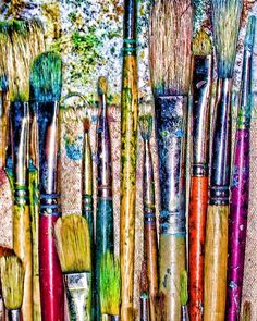 can't have too many paint brushes Tableaux D'inspiration, Memes Arte, Bussiness Card, Artist Aesthetic, World Of Color, Art Studies, Paint Brushes, Love Art, Painting & Drawing