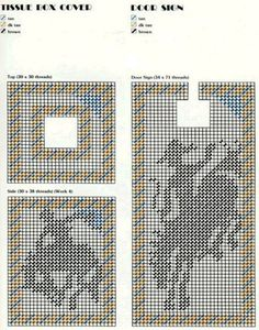 plastic canvas - out west tbc Plastic Canvas Coasters, Plastic Canvas Ornaments, Plastic Canvas Tissue Boxes, Plastic Canvas Crafts, Plastic Canvas Patterns, Tissue Box Holder, Tissue Box Covers, Canvas Door Hanger, Doorknob Hangers