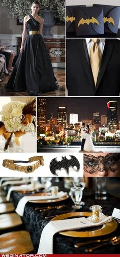 I can only hope to marry a someone who is as big a geek as me   Elegant Batman Wedding