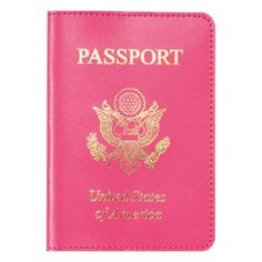 talk about traveling in style.. pink passport,  i never go anywhere without it!