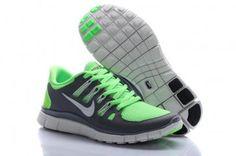 Nike Free Run 5.0 Women Green Gray Shoes $45.  Must have.