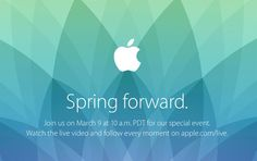 Will you be watching the Apple Watch event today, on March 9?