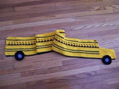 Hop on the Bus, Gus - free pattern from crochet me  How about making one for your favorite school bus driver, or a favorite student that rides a bus?  @Mitzi Christian  @Lisa Oppelt