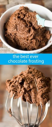 Best Chocolate Frosting Recipe {The Fudgiest, Creamiest, Chocolate Buttercream} homemade buttercream / from scratch chocolate frosting via @tastesoflizzyt