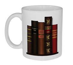 Etsy jane-austen-books-mug