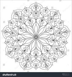 Vector circle ornament element. Mandala. Pattern for invitations, flayers, yoga centers, spa salon, body art, antistress coloring, posters, design.